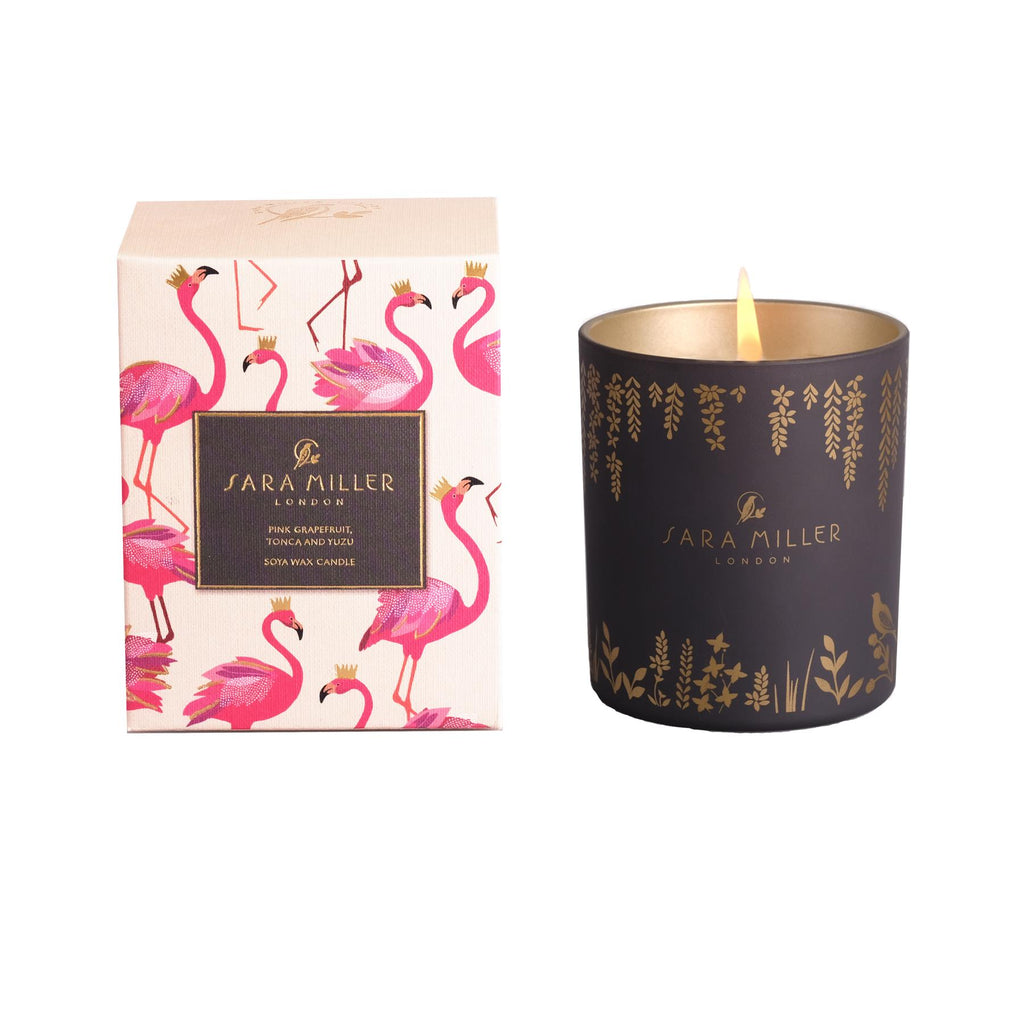 Sara Miller - Soya Wax Candle 240g/60hrs Burn Time - Pink Grapefruit, Tonca & Yuzu