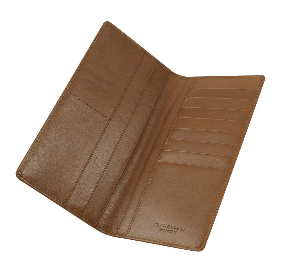 Byron & Brown - Gentleman's Classic Slim Jacket Wallet - Italian Leather - Gift Boxed - 3 Colours
