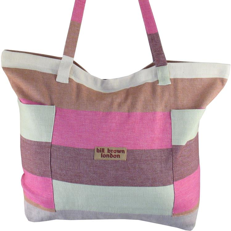 Bill Brown Bags - Lula Large Cotton Beach Bag - Various Colours - 61x41x16cms