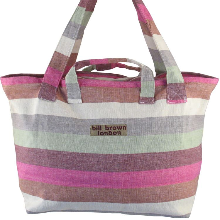 Bill Brown Bags - Mango - Weekend Bag/Cabin Luggage - Pink, Brown, Cream & Green BB84 60x39x18cms