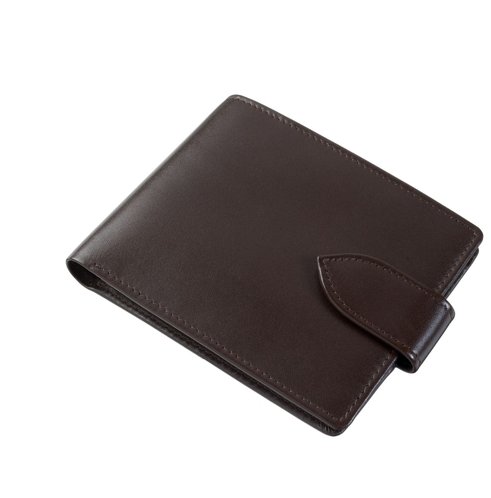 Byron & Brown - Gentleman's Classic 8 Card Contrast Colour Wallet - Italian Leather - Gift Boxed - 2 Colours