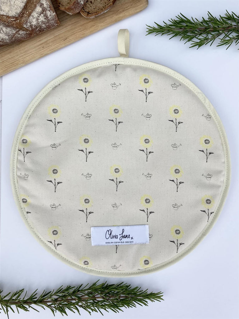 Olivia Jane Designs - 100% Cotton Hob/Range Cover 36 x 36cms - Sunny Side Up Sunflowers