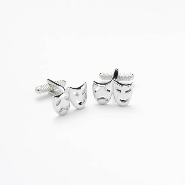 Novelty Cufflinks - Drama Mask - CK149 - Onyx Art