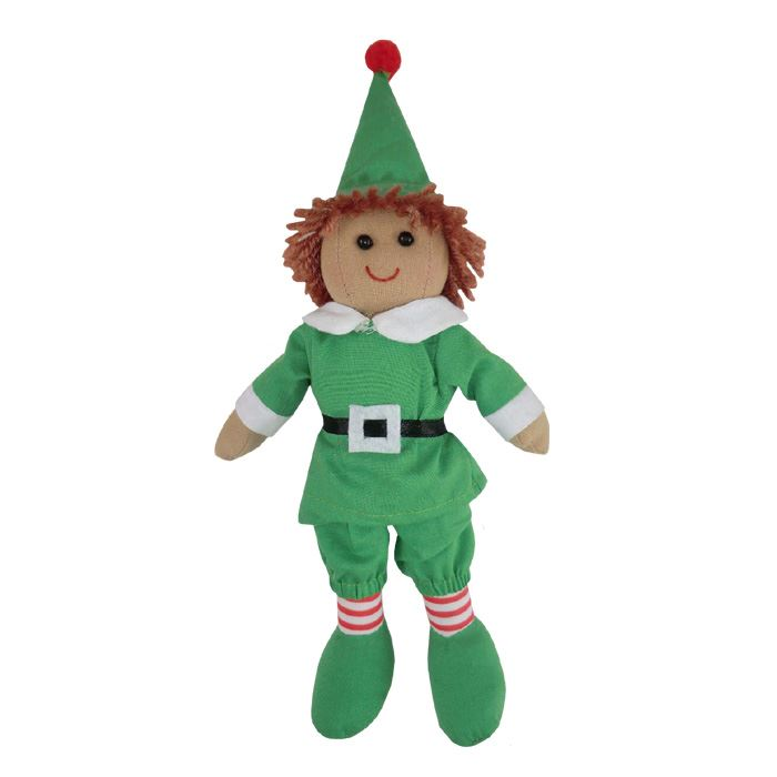 Rag Doll - Christmas Elf - Handmade - Powell Craft - Medium 20cms or Large 40cms Available
