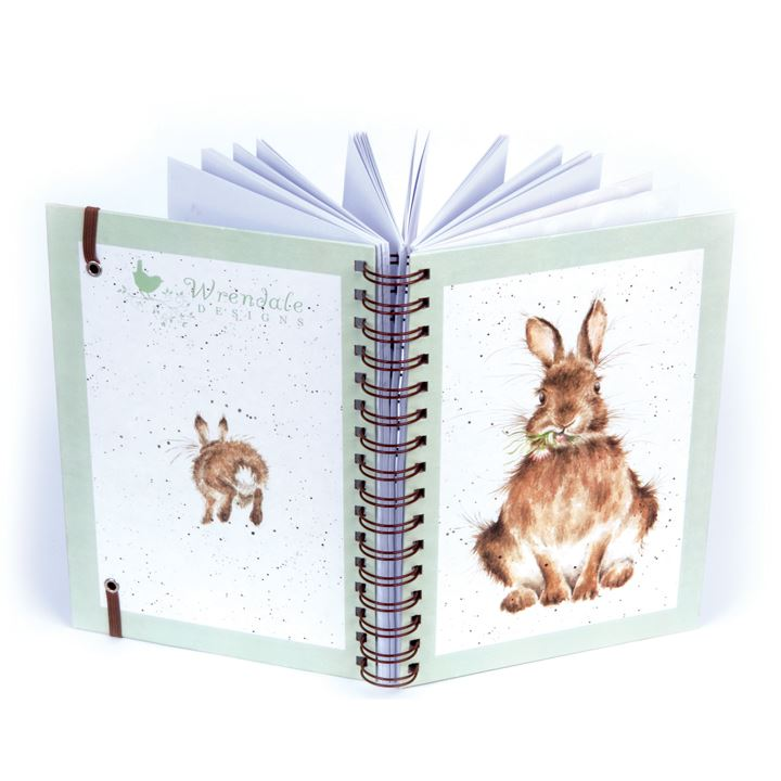 Spiral Bound Hardback Notebook - Rabbit - Lined A5 Paper