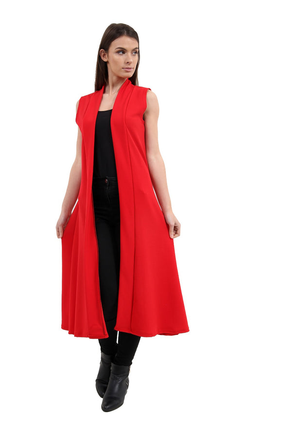 New Women Waist coat with sleeveless long maxi Cardigan For Ladies