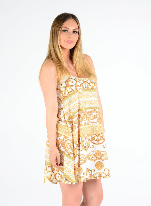 New Women Printed Cami Mini dress For Ladies