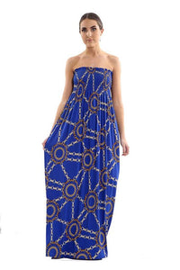 New Women's Ladies Printed Sheering Boobtube Bandeau Long Maxi Strapless