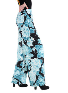 Soft Touch Fabric Flower Print Flair Plazo