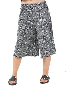Wide Leg Butterfly Floral Culotte Trouser