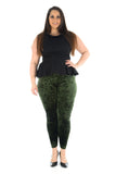Women's Velvet Black Leggings Pants For Ladies Plus Size
