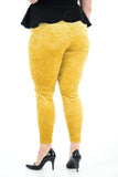 Women's Velvet Mustard Leggings Pants For Ladies Plus Size