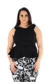 Sleeveless Off Shoulder Peplum Top black uk seller casual formal wear