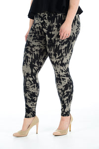 Women's Plus Size Legging Stretch TyeDy Printed Skinny Fit Legging Ladies Pants