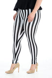 Women's Plus Size Legging Stretch Stripe Printed Skinny Fit Legging Ladies Pants