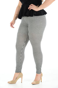 Women's Plus Size Legging Stretch Small Tart Printed Skinny Fit Legging Ladies Pants