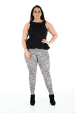 Women's Plus Size Legging Stretch Leopard Printed Skinny Fit Legging Ladies Pants