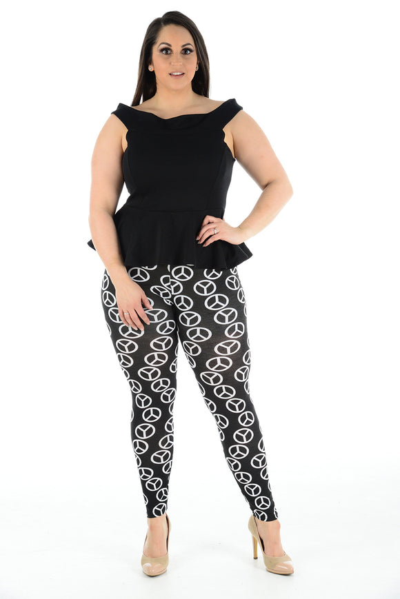 Women's Plus Size Legging Stretch Benz Printed Skinny Fit Legging Ladies Pants