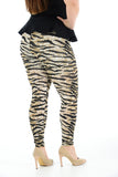 Women's Plus Size Legging Stretch Cheeta Printed Skinny Fit Legging Ladies Pants
