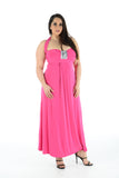 New Women Elegant  Sleeveless Maxi Dress Full Length Plus size For Ladies