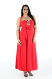 New Women Pretty Red Sleeveless Maxi Dress Full Length Plus size For Women