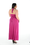 New Women Stylish Purple Sleeveless Maxi Dress Full Length Plus size For Women