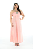 New Women Sleeveless Knot Behind Neck Maxi Dress Full Length