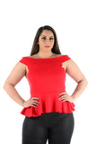 Sleeveless Off Shoulder Peplum Top