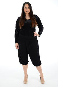 Women 3/4 Cropped Harem Trouser For Ladies