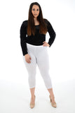 women butterfly cropped 3/4 legging
