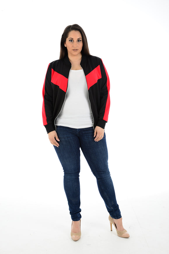 Women's Ladies Zip Biker Jacket Blazer Long Sleeve Zipper