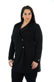 Women's Ladies Long Sleeve Coat Jacket Button Up Blazer