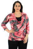 New Women Full sleeve Twin Style Top Flare Neckline