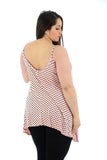 Women's Printed Cami Ladies Summer Swing Mini Dress Long Top Plus Size