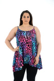 New Women Sleeveless Cami Swing Top For Ladies