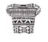 Women's Ladies Printed Ladies Short Cap Sleeve Cropped Belly Crop Top