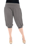 Women's 3/4 Length Ali Baba Harem Baggy Trouser Shorts Plain Cropped Modal Pants