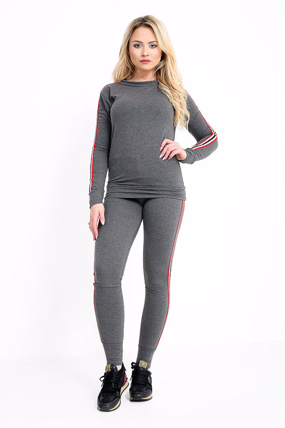 Women New Track suit loop back fabric Gym Suit For Ladies