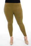 Women Trousers Suede Leggings Solid High Waist Skinny Pants Pencil Winter