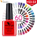 Venalisa 60Color 7.5Ml Soak Off Enamel Gel Polish UV Gel Nail Polish Lacquer Varnish