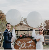 White Giant Balloon Wedding Party