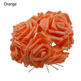 Pretty Charming Artificial Flowers PE Foam Rose Flowers Bride Bouquet 10 Heads