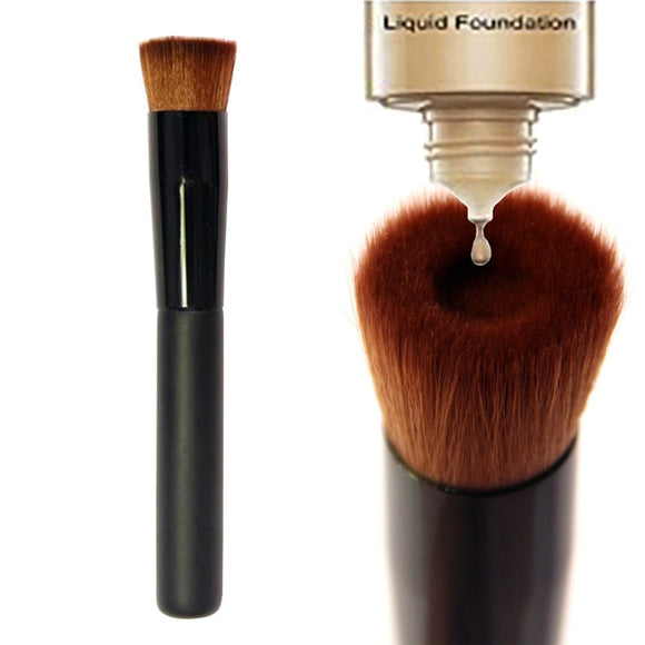 SAIANTTH Black Concave Liquid Foundation Brush Makeup Brushes Professional