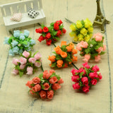 Silk Roses Bouquet DIY Christmas Flowers 12pcs