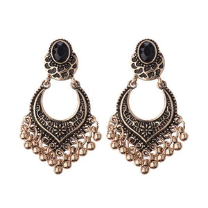 Antique Ethnic Silver Drop Earrings