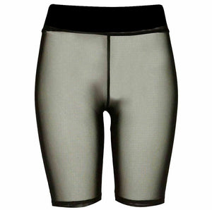 Womens Mesh Cycling Shorts Pants Sports Wear