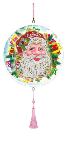 Santa's Face - Diamond Painting Decorative Plate