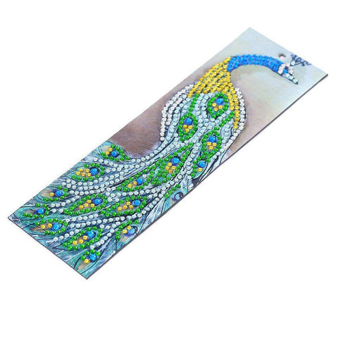 Beautiful Peacock - Diamond Painting Bookmark
