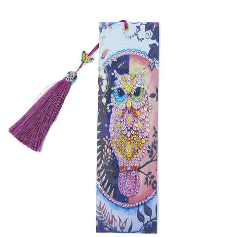 Owl - Diamond Painting Bookmark