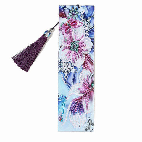 Orchids - Diamond Painting Bookmark